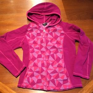 North Face light fleece hooded jacket